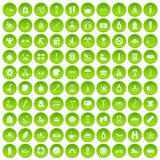 100 human health icons set green. 100 human health icons set in green circle isolated on white vectr illustration Royalty Free Illustration
