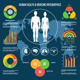 Human Health and Medicine Infographics Royalty Free Stock Image