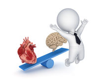 Human heart and brain. Royalty Free Stock Photo