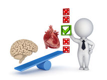 Human heart and brain. Royalty Free Stock Image