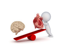 Human heart and brain. Royalty Free Stock Images