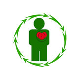 The human heart is in danger Royalty Free Stock Photo