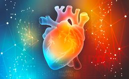 Human heart. Digital technologies in medicine. Innovations in healthcare royalty free illustration