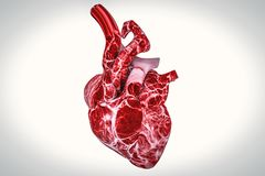 Human heart and DNA concept heart disease and health treatments stock illustration