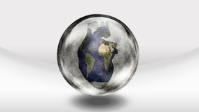Human heart earth glass bottle Royalty Free Stock Photo