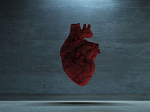 Human Heart. In industrial space Stock Photos