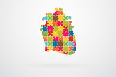 Human Heart Jigsaw Puzzle Stock Images