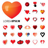 Human heart and love vector logo icons ( signs ) or symbols Royalty Free Stock Images