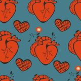 Human heart patterns Stock Image