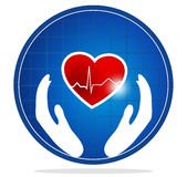 Human heart protection symbol Royalty Free Stock Photos