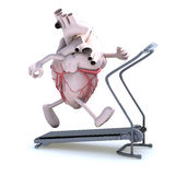 Human heart on a running machine Royalty Free Stock Photos