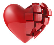 The human heart of the segments Stock Photography