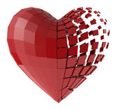 The human heart of the segments Royalty Free Stock Images