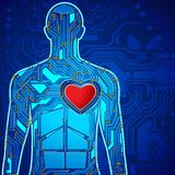 Human Heart Technology Royalty Free Stock Images