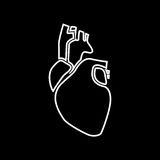 Human heart white color icon . Royalty Free Stock Photography