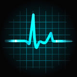Human heartbeat sinus wave. Normal heartbeat sinus wave with light effects, perfect for fitness, cardiovascular healthcare or others Stock Image