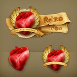 Human hearts icons Stock Images