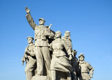 The human heros of china. Closeup photo of the human heros of china.  Victory for the china cost many lives with the Japanese losing many more people Royalty Free Stock Photos