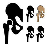 Human hip joint symbols Royalty Free Stock Image