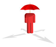 Human holding an Red umbrella Stock Photos