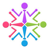Human Icon Circular Stock Image