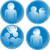 Human icon collection Royalty Free Stock Photography