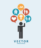Human icon design Stock Images
