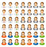 Human icon set Stock Photography