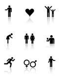 Human Icons Stock Image