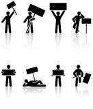 Human icons Stock Photography