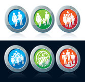 Human icons Stock Images