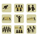 Human icons Royalty Free Stock Photography