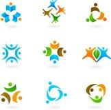 Human icons and logos 1. Collection of human icons and logos Stock Photography