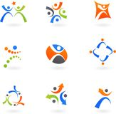 Human icons and logos 2 royalty free illustration