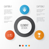 Human Icons Set. Collection Of Navigation, Royalty Free Stock Photography