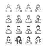 Human Icons set. Vector illustration. Stock Images