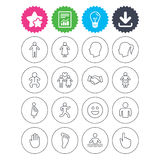 Human icons. Toddler and pregnant woman. Royalty Free Stock Images