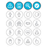 Human icons. Toddler and pregnant woman. Royalty Free Stock Image