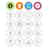 Human icons. Toddler and pregnant woman. Royalty Free Stock Photo