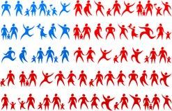 Human icons USA flag 2 Stock Images