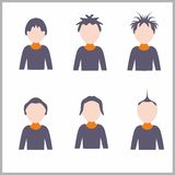 Human icons Royalty Free Stock Images