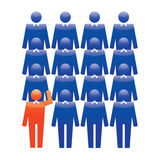 Human Icons. Vector Illustration. Office team and Leader. Royalty Free Stock Images