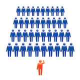 Human Icons. Vector Illustration. Office team and Leader. Royalty Free Stock Photo