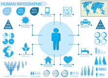 Human info graphic elements Royalty Free Stock Image