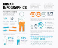 Human infographics vector. Show off what people have been doing! Stock Photo