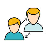 Human Interaction Icon Stock Image