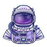 Human inventions:  astronaut`s suit. Depth science. Human inventions: astronaut`s suit. Depth science. Vector illustration isolated on a white background. Print Stock Photography