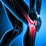 Human knee pain Royalty Free Stock Images