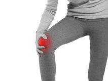 Human knee pain joint problem medical health care concept. Stock Image