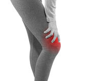 Human knee pain joint problem medical health care concept. Royalty Free Stock Photography